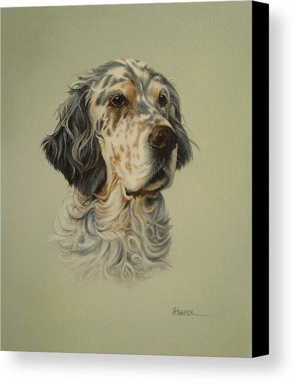 Dog Canvas Print featuring the painting English Setter by Fiona Hooper