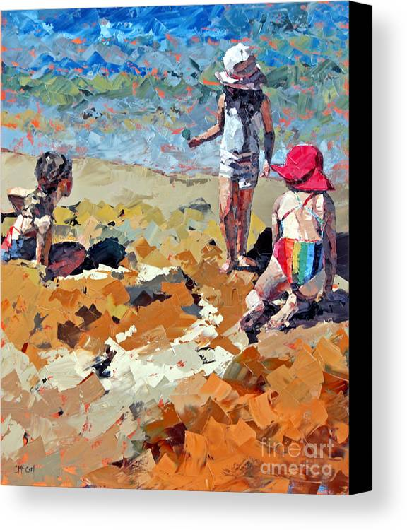 Claire Canvas Print featuring the painting Sandcastles IIi by Claire McCall