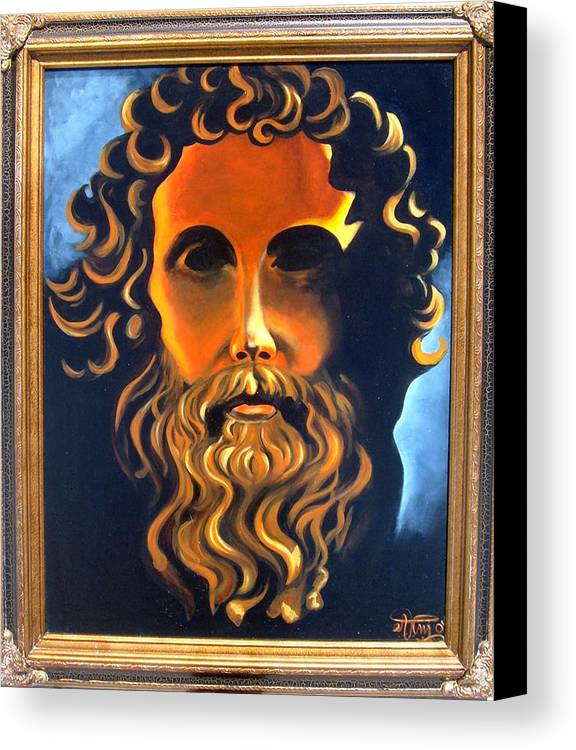 Socrates Canvas Print featuring the painting Socrates by Annette Jimerson