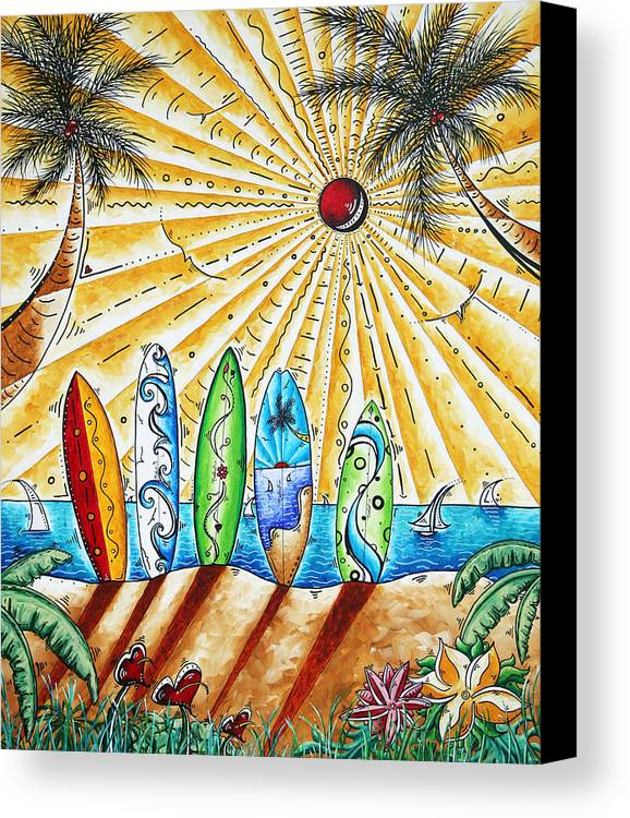 Tropical Canvas Print featuring the painting Summer Break By Madart by Megan Duncanson