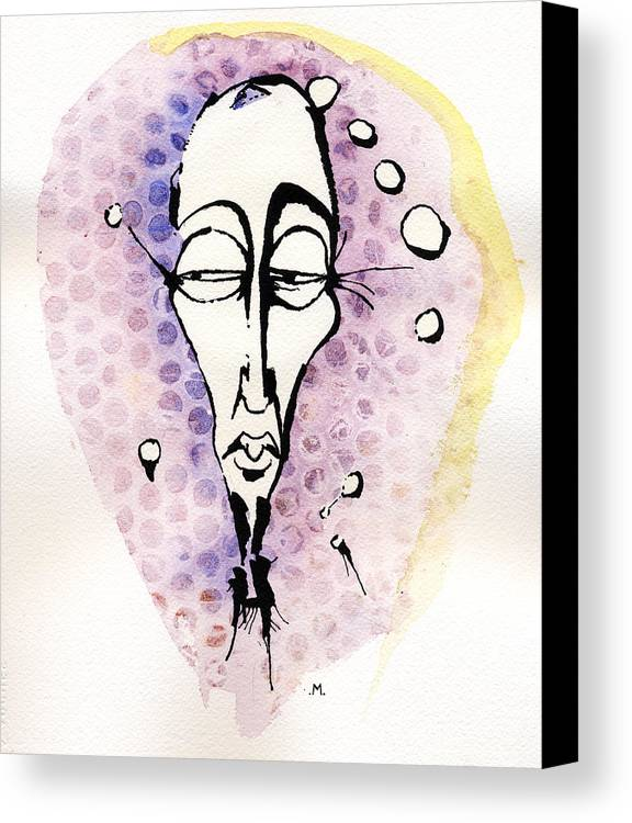Face Canvas Print featuring the painting The Prophet Three by Mark M Mellon