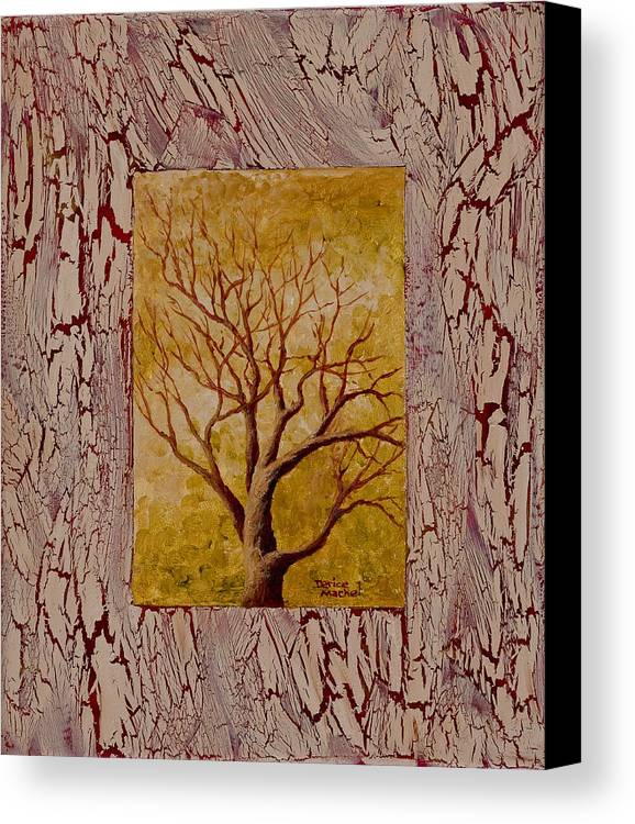 Old Tree Canvas Print featuring the painting This Old Tree by Darice Machel McGuire