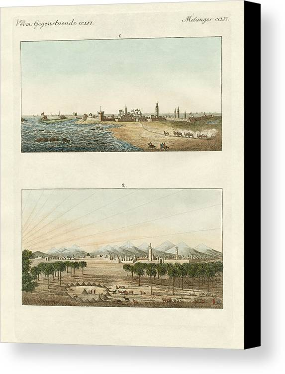 Bertuch Canvas Print featuring the drawing Views Of Africa by Splendid Art Prints