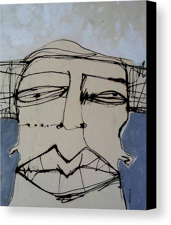 Face Canvas Print featuring the painting Wanderer No. 22 by Mark M Mellon