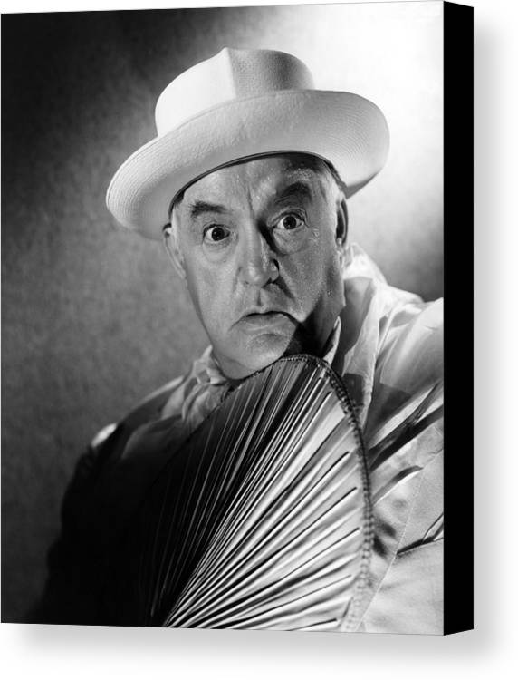 1940s Portraits Canvas Print featuring the photograph Across The Pacific, Sydney Greenstreet by Everett