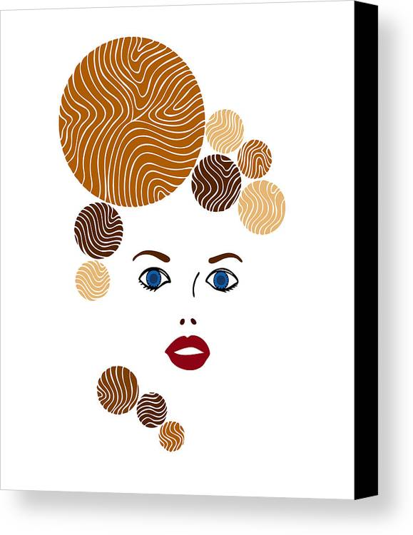 Fashion Canvas Print featuring the painting Illustration Of A Woman In Fashion by Frank Tschakert