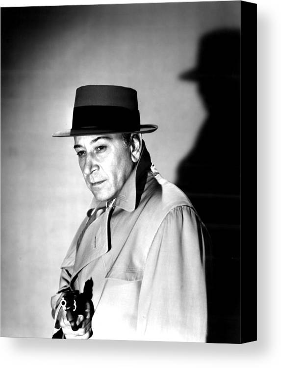 1950s Movies Canvas Print featuring the photograph A Bullet For Joey, George Raft, 1955 by Everett