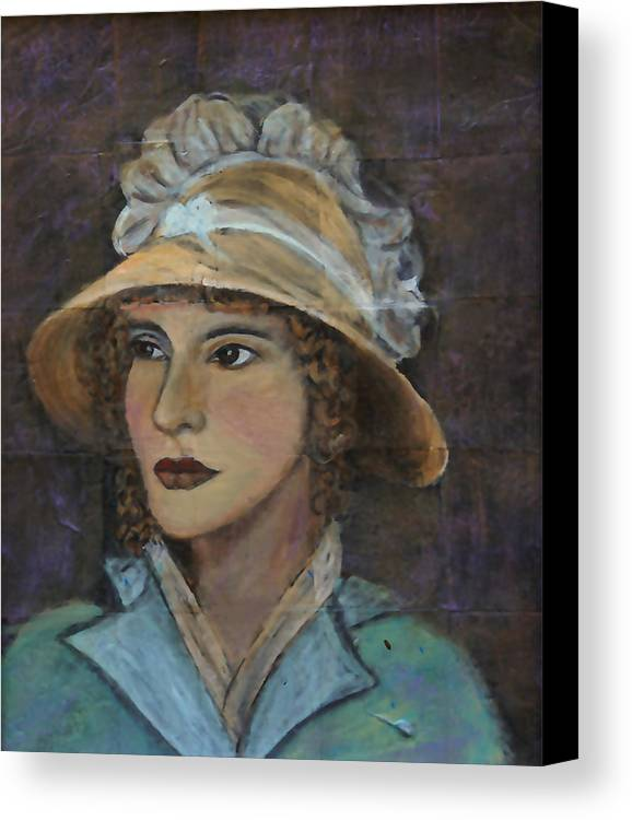 Lady In Hat Series Canvas Print featuring the painting Abigail by The Art With A Heart By Charlotte Phillips