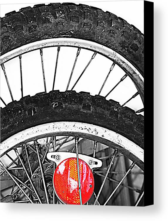 Elm Canvas Print featuring the photograph Big Wheels Keep On Turning by Jerry Cordeiro