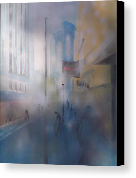 Canvas Print featuring the painting Boston Morning by Plamen Hristov