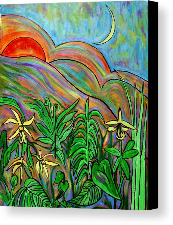 Landscape Surreal Canvas Print featuring the painting Brother Sun Sister Moon by Patrick Harris