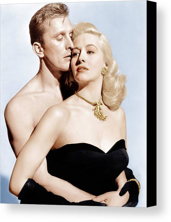 1940s Movies Canvas Print featuring the photograph Champion, From Left Kirk Douglas by Everett