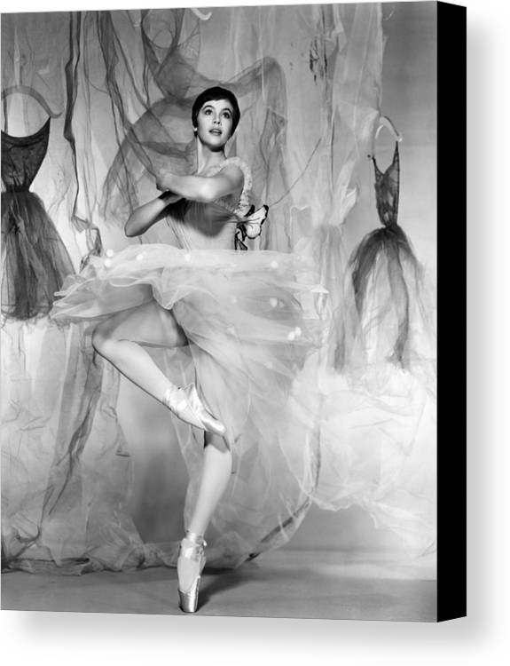 1950s Portraits Canvas Print featuring the photograph Daddy Long Legs, Leslie Caron, 1955 by Everett
