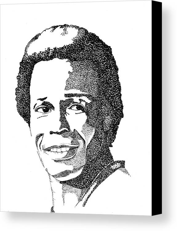 This Image Of Rod Carew Took Over 10 Hours To Complete And Has Over 80 Canvas Print featuring the drawing Rod Carew Sports Portrait by Marty Rice