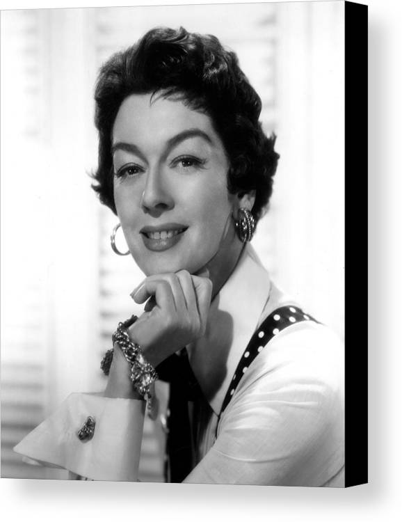 1950s Movies Canvas Print featuring the photograph The Girl Rush, Rosalind Russell, 1955 by Everett