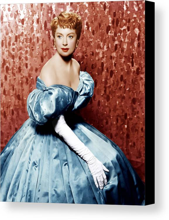 1950s Portraits Canvas Print featuring the photograph The King And I, Deborah Kerr, 1956 by Everett