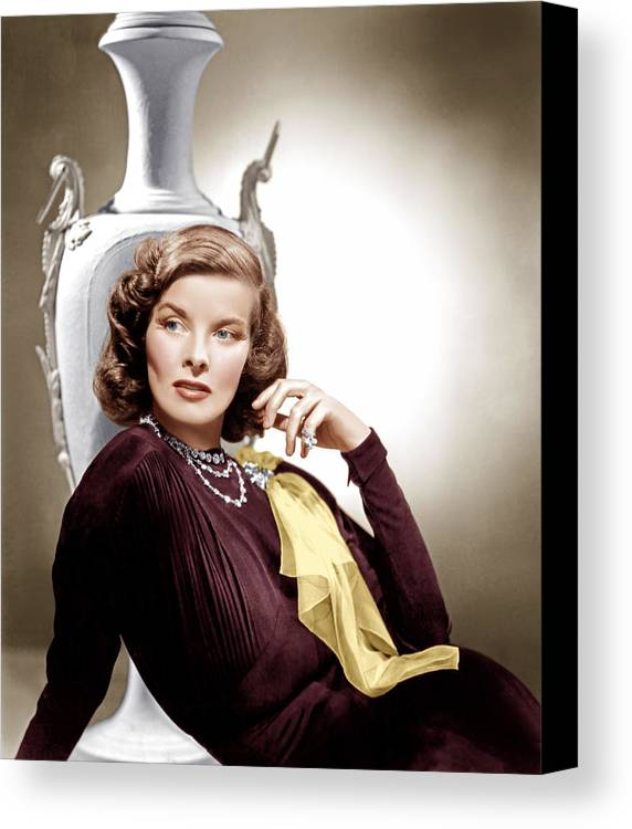 1930s Movies Canvas Print featuring the photograph Holiday, Katharine Hepburn, 1938 by Everett