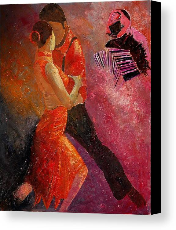 Tango Canvas Print featuring the painting Tango by Pol Ledent