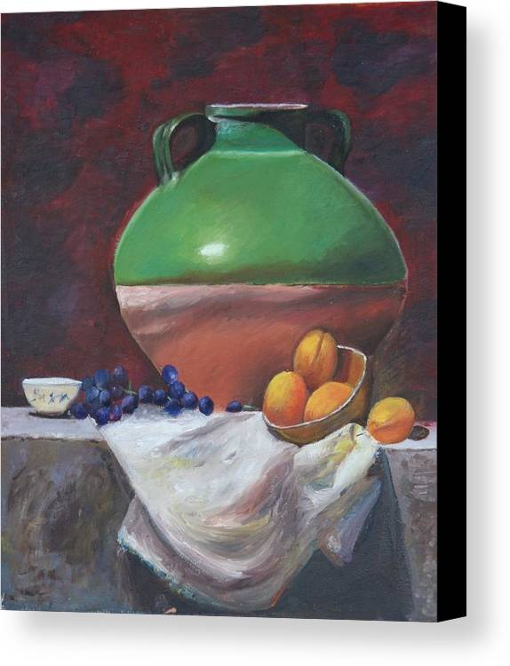 Vase Canvas Print featuring the painting Vase by Taly Bar