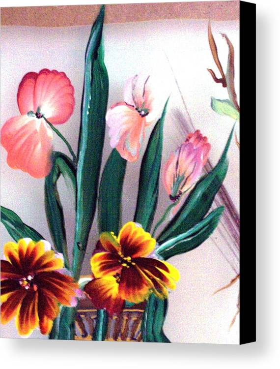 Flower Canvas Print featuring the print Untitled by Beverly Baxter