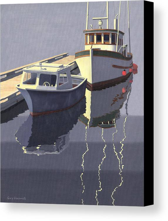 Boat Canvas Print featuring the painting After The Rain by Gary Giacomelli