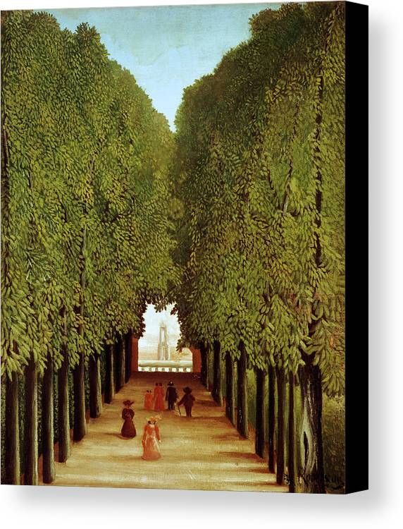 Henri Canvas Print featuring the painting Alleyway In The Park by Henri Rousseau