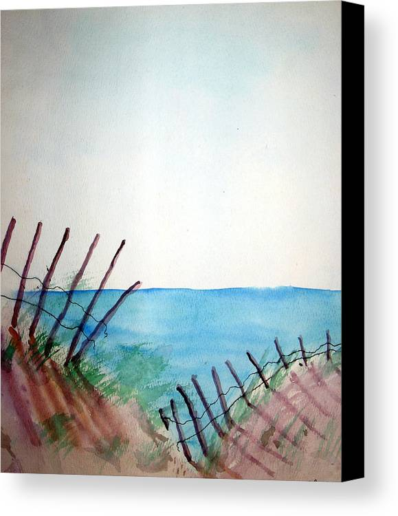 Beach Canvas Print featuring the painting Amelia Island by Leigh Odom