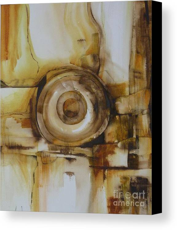 Copper Canvas Print featuring the painting Ann's Dish by Donna Acheson-Juillet