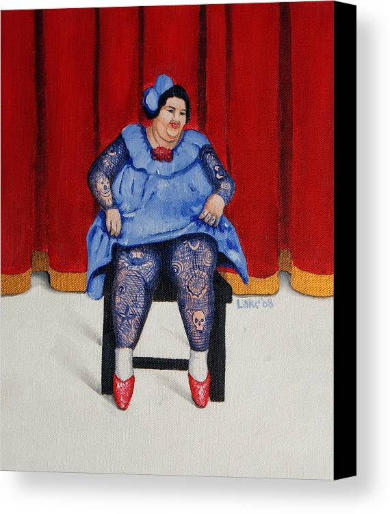 Fat Canvas Print featuring the painting Betty 1 by Matthew Lake