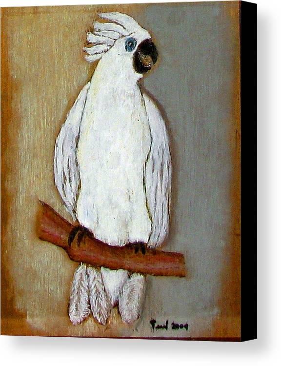 Bird Canvas Print featuring the pastel Bird by Ismael Alicea-Santiago