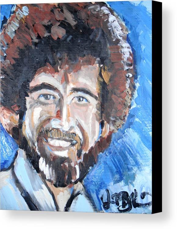 Bob Ross Canvas Print featuring the painting Bob Ross by Jon Baldwin Art