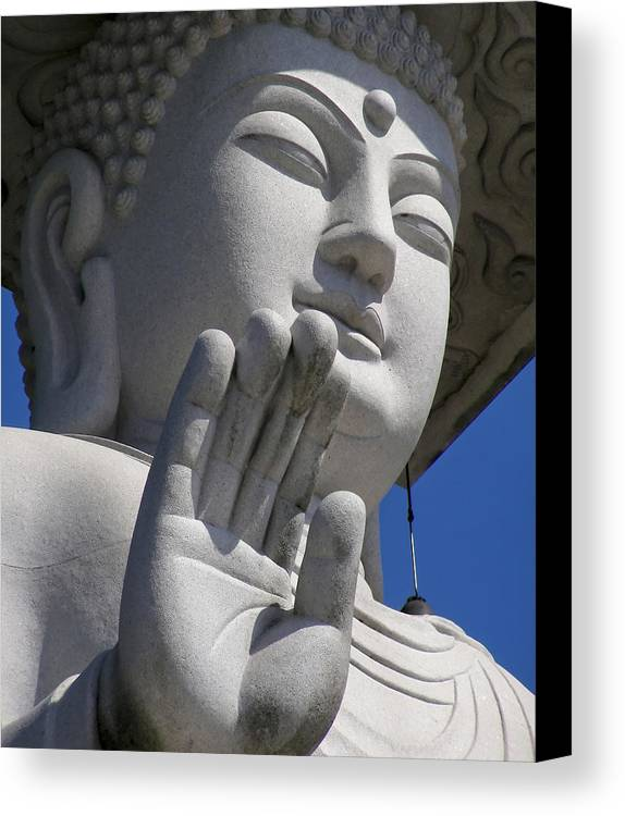 Buddha Canvas Print featuring the photograph Buddha by Mary Lane