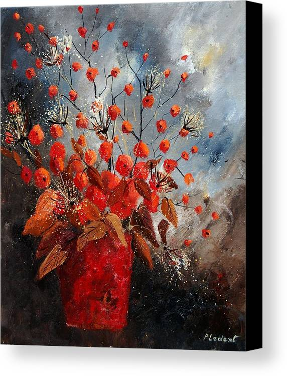 Flowers Canvas Print featuring the painting Bunch 560608 by Pol Ledent