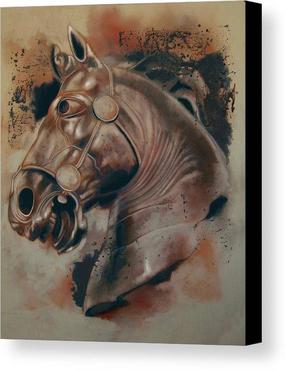 Drawing Canvas Print featuring the digital art Classical Horse 5 by Tom Durham