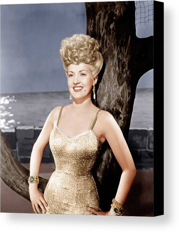 1940s Portraits Canvas Print featuring the photograph Coney Island, Betty Grable, 1943 by Everett
