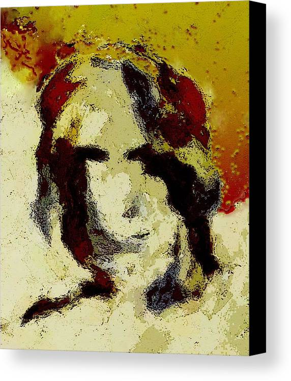 Abstract Canvas Print featuring the mixed media Expression by LeeAnn Alexander