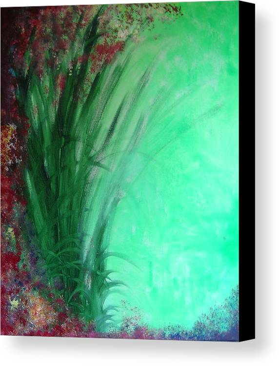 Green Ferns Canvas Print featuring the painting Ferns by Lizzy Forrester