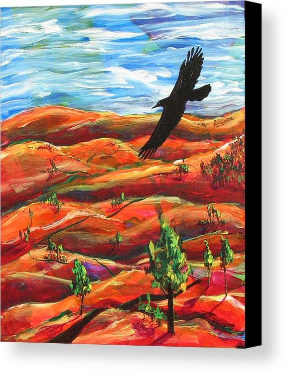 Bird Canvas Print featuring the painting Free As A Bird by Rollin Kocsis