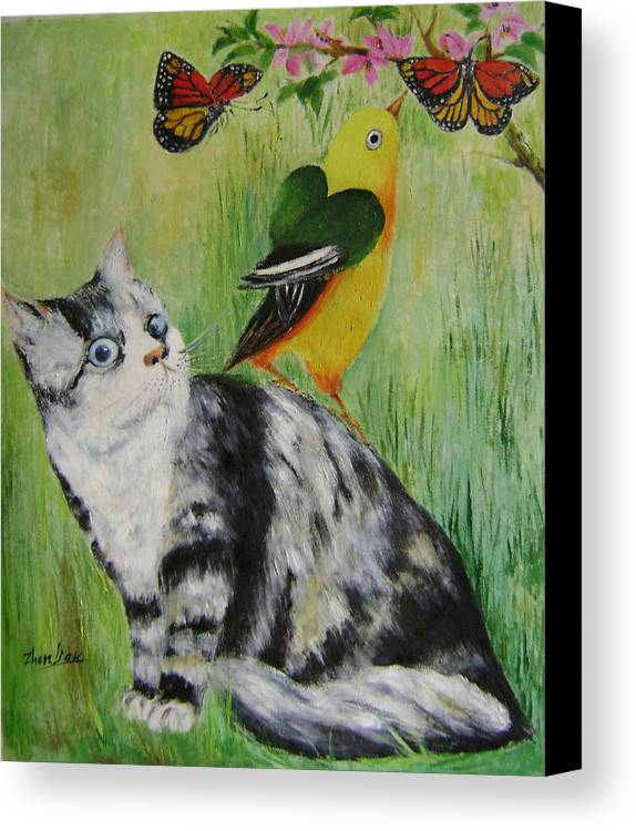 Imaginative Canvas Print featuring the painting Friends Can Help by Lian Zhen