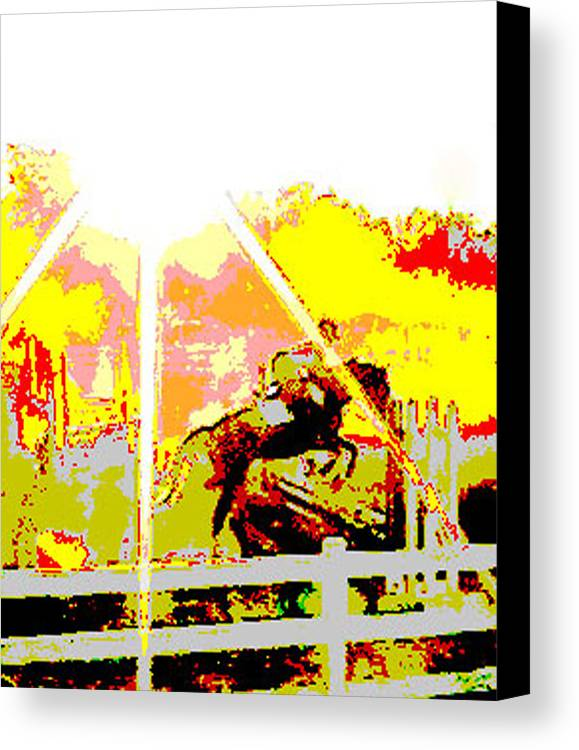 Horse Canvas Print featuring the digital art Fun In The Sun by Donna Thomas