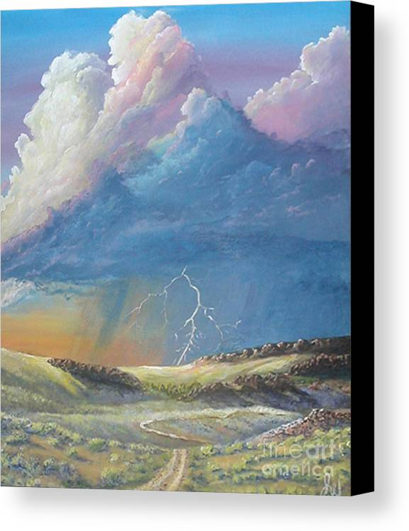 Monsoon Canvas Print featuring the painting Horsewater by John Wise