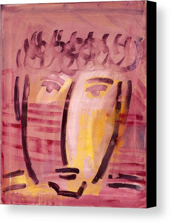 Abstract Canvas Print featuring the painting Inca Head by Michael Keogh