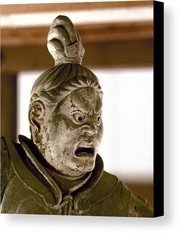 8th Century Canvas Print featuring the photograph Japan: Warrior Statue by Granger