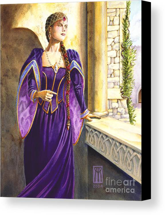 Camelot Canvas Print featuring the painting Lady Ettard by Melissa A Benson