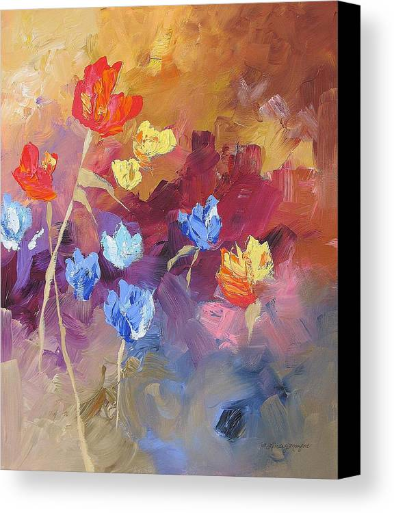 Original Canvas Print featuring the painting Lazy Afternoon by Linda Monfort