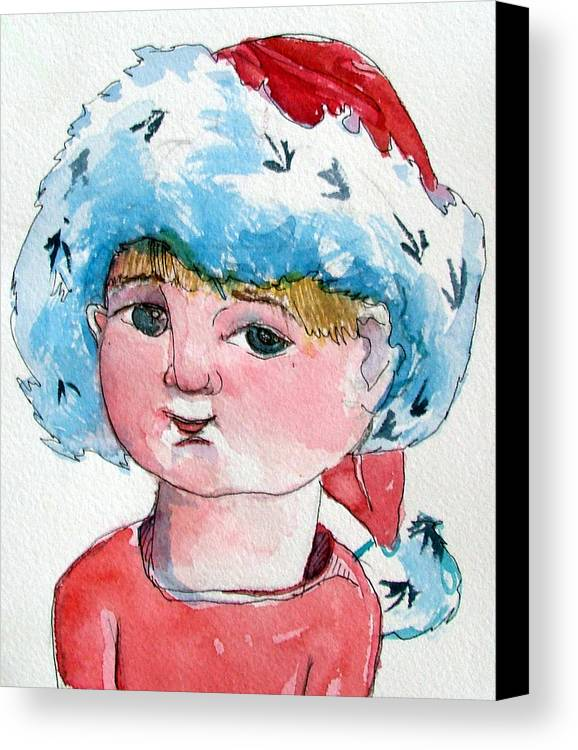 Santa Canvas Print featuring the painting Lexi by Mindy Newman