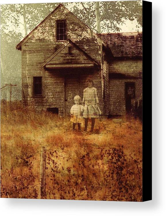 Ghosts Canvas Print featuring the photograph Little Sister by Brande Barrett
