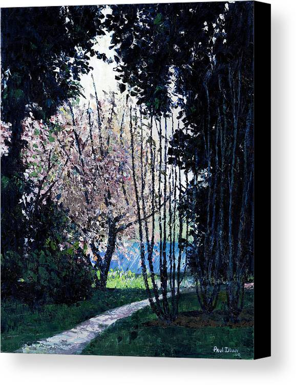 Trees Canvas Print featuring the painting Looking Back by Paul Illian