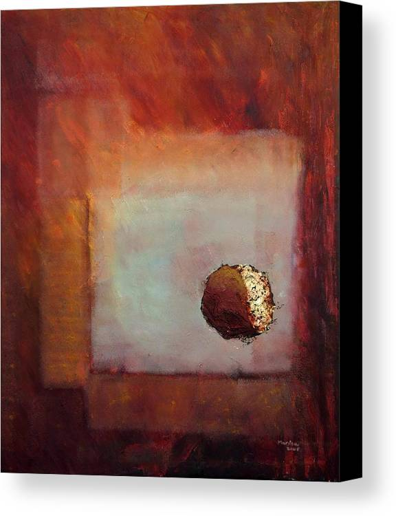 Abstract Canvas Print featuring the painting 'looking In' by Marina Harris