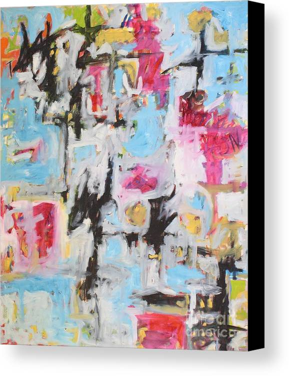 Painting Canvas Print featuring the painting Magenta Abstract I by Michael Henderson